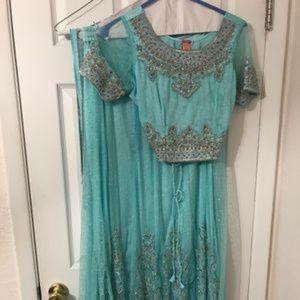 Aqua Indian lehnga choli outfit